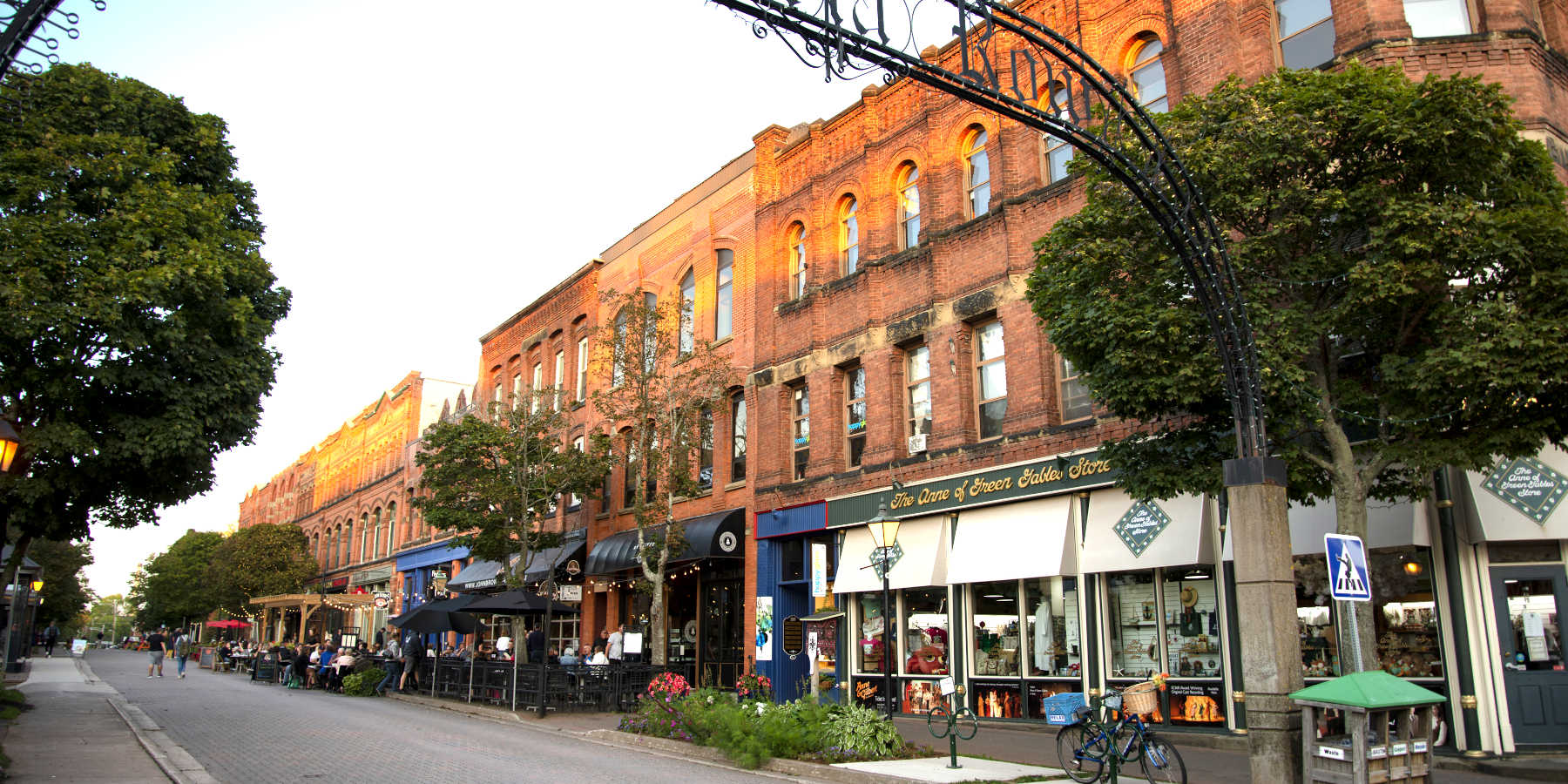 Downtown Victoria Row panoramic Charlottetown PEI