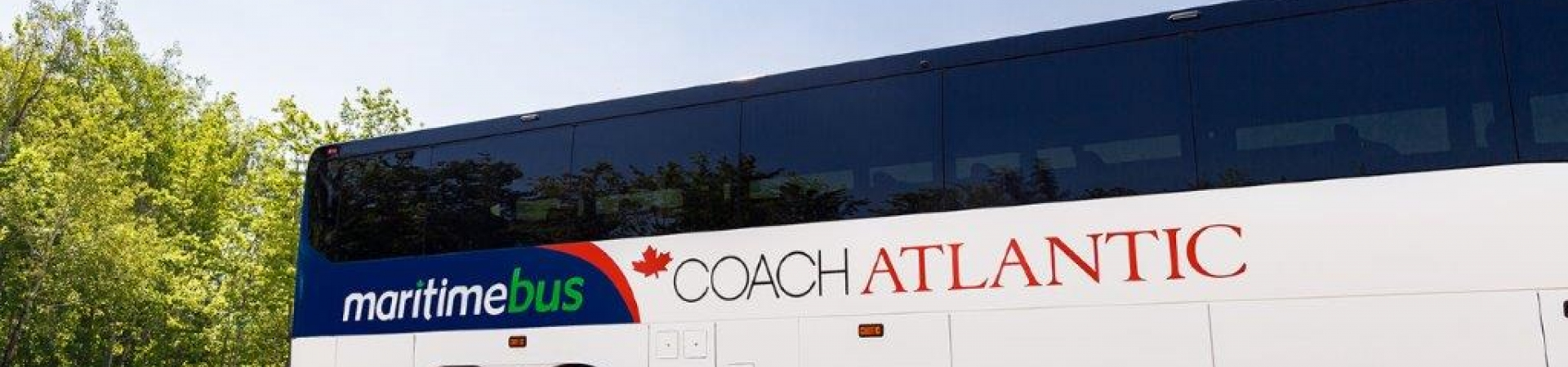 Coach Atlantic Bus on sunny day
